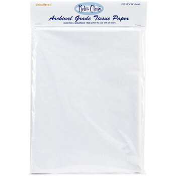 "Archival Grade Tissue Paper - Unbuffered-24""X36"" 12/Pkg"