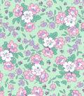 1930\u0027s Premium Cotton Print Fabric 43\u0027\u0027-Floral Garden on Green