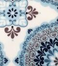 Sew Lush Fleece Fabric -Blue Medallion
