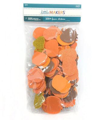 Little Maker's Mixed Glitter Foam Stickers-Fall Leaves