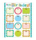 Creative Teaching Press Dots on Turquoise Happy Birthday Chart 6pk