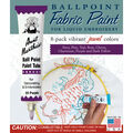 Aunt Martha\u0027s Ballpoint Paint Tubes 1 Ounce 8/Pkg-Jewel Colors
