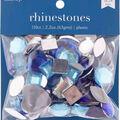 hildie & jo 110 pk 2.2 oz. Assorted Plastic Flat Back Rhinestones-Blue