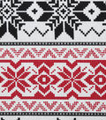 Christmas Cotton Fabric-Black & Red Fair Isle Sweater