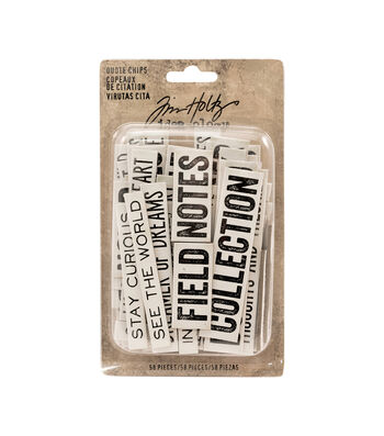 Tim Holtz Idea-ology Pack of 58 Quote Chips