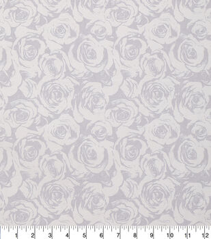 Keepsake Calico Cotton Fabric-Gray Pearl Roses