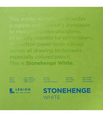 Stonehenge 15-sheet 8''x8'' 90 lbs. Paper Pad -White