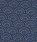 Snuggle Flannel Fabric -Twilight Dotted Scales Navy