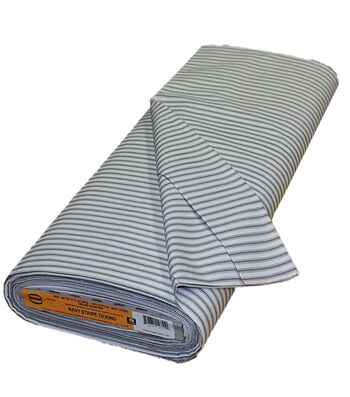Roc-lon Ticking Muslin 30 yds-Navy Stripe