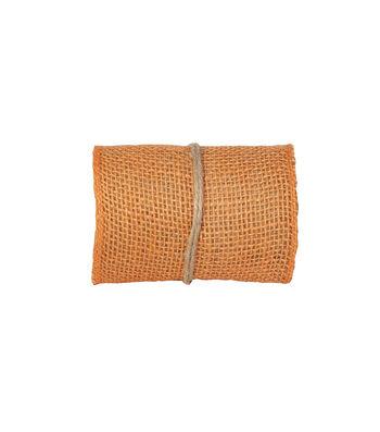 Simply Autumn Burlap Roll 5''x15'-Orange