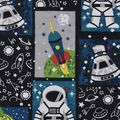 Snuggle Flannel Fabric -Astronaut