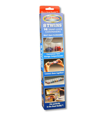 The Bead Buddy Twins 16 Snap-lock Storage Containers