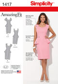 Simplicity Pattern 1417BB 20W-28W -Misses Dresses