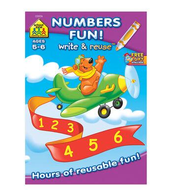 Write And Reuse Workbook-Math Fun!
