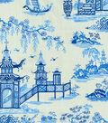 Waverly Multi-Purpose Decor Fabric 56\u0022-Protocol Porcelain