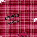 University of Arkansas Razorbacks Cotton Fabric -Plaid