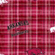 "University of Arkansas Razorbacks Cotton Fabric 43""-Plaid, , hi-res"