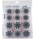 Tim Holtz 12 pk Cling Mount Stamps-Mini Swirly Snowflakes