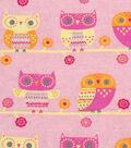 Snuggle Flannel Fabric -Triangle Owl