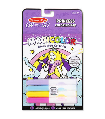 Melissa & Doug On The Go Magicolor Coloring Pad-Princess