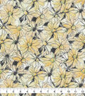 Keepsake Calico Cotton Fabric-Watercolor Floral Yellow