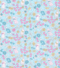 Easter Fabric -Ditsy Bunny Floral