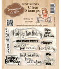 Dreamerland Crafts Sentiments Clear Stamp Set 3\u0027\u0027x4\u0027\u0027-Birthday 10