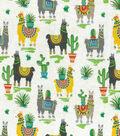 Novelty Cotton Fabric-Trendy Llamas