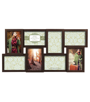 Collage Wall Frame 8 4X6 Openings-Dimensional Walnut