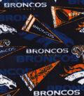 Denver Broncos Fleece Fabric -Retro