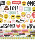 Emoji Love Cardstock Stickers 12\u0022X12\u0022-Combo