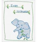 Stamped White Sampler 9\u0022X11\u0022-Elephant