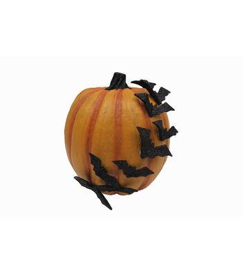 Maker's Halloween Bats on Pumpkin