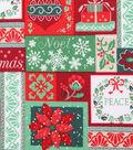Christmas Cotton Fabric 43\u0022-Holiday Word Blocks