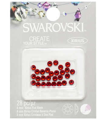 Swarovski Create Your Style 28 pk 4mm Xirius Flat Back Rhinestones-Siam