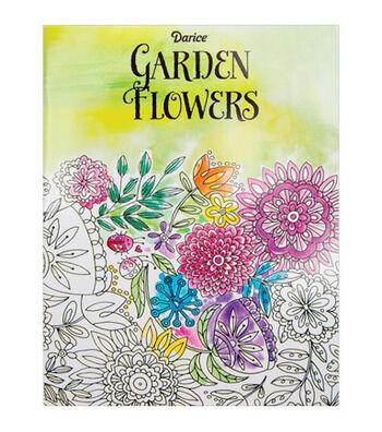 Adult Coloring Book-Darice Garden Flowers
