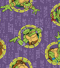 Teenage Mutant Ninja Turtles Flannel Fabric -Badges