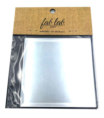4 inch Square Glass Beveled Mirror