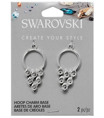 Swarovski Create Your Style 2 pk Hoop Charms Base