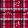 Washington State Plaid Flc