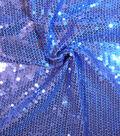Casa Embellish Spring Stretch Sequin Knit Fabric -Dazzling Blue