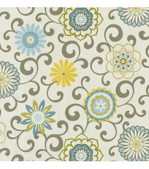 Waverly Upholstery Fabric 54 Pom Play Spa