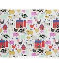 Novelty Cotton Fabric 45\u0022-E-I-E-I-O
