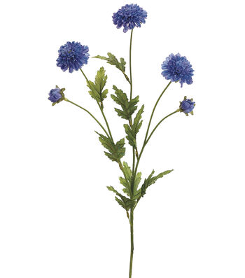 "Bloom Room 28"" Pom Pom Mum Spray-Blue Delphinium"
