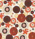 Quilter\u0027s Showcase Cotton Fabric-Floral Medallion on Orange