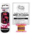 Pretty Twisted Headphone Wrap DIY Kit W/Earphones-Punk