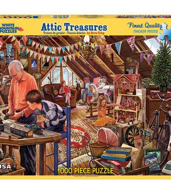 White Mountain Puzzles 1000 Pieces Jigsaw Puzzle-Attic Treasures
