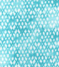Luxe Flannel Fabric -Aqua Textured Scatter