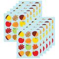 Carson Dellosa Apples Acorns & Leaves Shape Stickers, 72 Per Pack