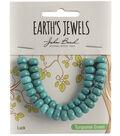 Earth\u0027s Jewels Semi-Precious Rondell 5x8mm Beads-Turquoise Green